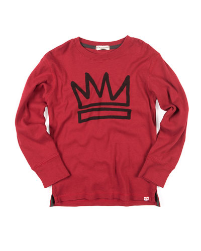 King Crown Graphic Cotton Jersey Top, Size 2-10