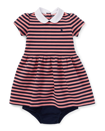 Textured Stripe Dress w/ Bloomers, Size 6-24 Months