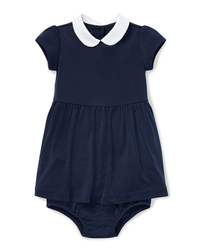 Peter Pan-Collar Dress w/ Bloomers, Size 6-24 Months