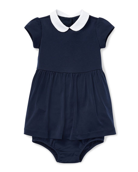 Ralph Lauren Childrenswear Peter Pan-Collar Dress w/ Bloomers,