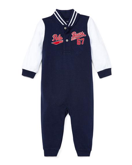 Ralph Lauren Childrenswear Baseball Polo Bears Coverall, Size
