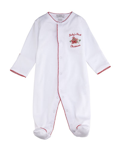 Baby's First Christmas Footie Playsuit, Size 0-9 Months
