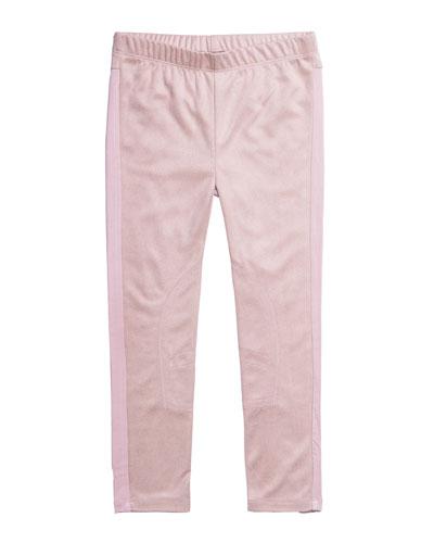 Stretch Faux-Suede Pants, Size 2-6