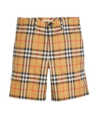 Tristen Check Shorts, Size 4-14