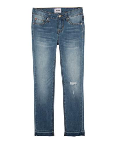 Christa Super Stretch Release-Hem Skinny Jeans, Size 7-16