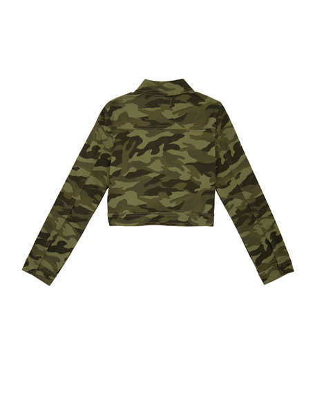 Surplus Embellished Cropped Camo Jacket, Size S-XL