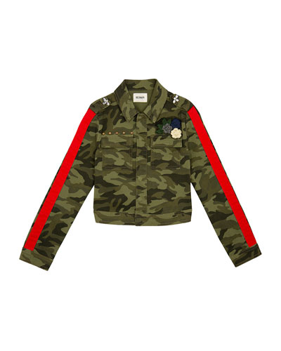 Surplus Embellished Cropped Camo Jacket, Size S-XL