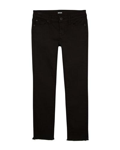 Cailin Raw-Hem Skinny Denim Jeans, Size 7-16