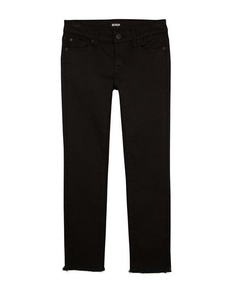 Girls' Cailin Raw-Hem Skinny Denim Jeans, Size 7-16