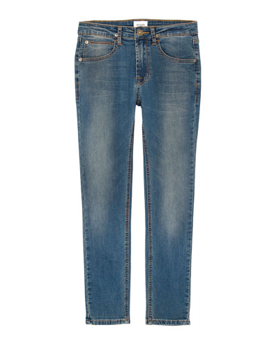Jagger Slim Straight Knit Denim Jeans, Size 8-16