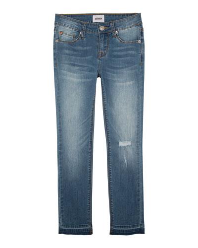 Christa Super Stretch Release-Hem Skinny Jeans, Size 4-6X