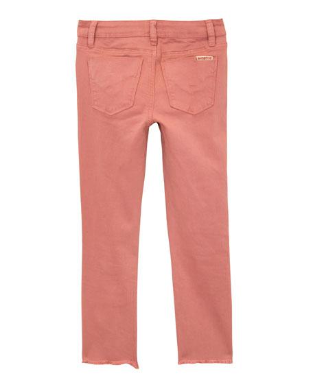 Girls' Wren Distressed Chewed-Hem Skinny Jeans, Size 4-6X