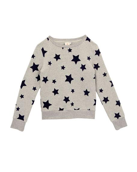 Star-Print Pullover Sweatshirt, Size S-L