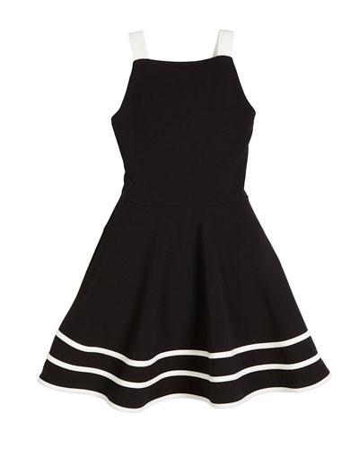 Emma Two-Tone Sleeveless Dress, Size S-XL