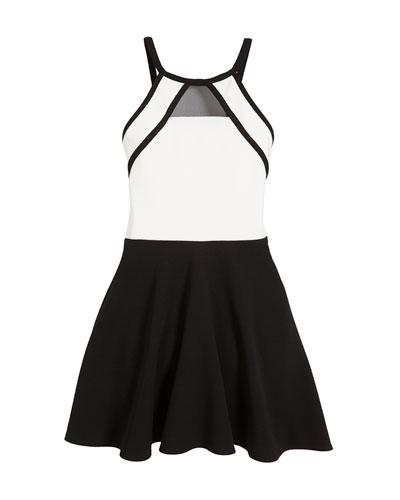 Chelsea Two-Tone Sleeveless Dress, Size S-XL