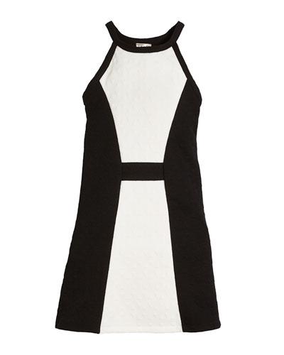 Cara Textured Colorblock Dress, Size S-XL