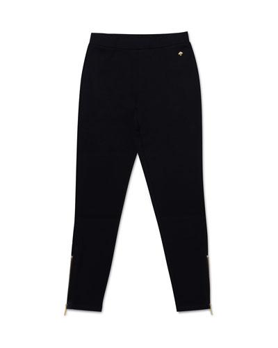 ankle zip leggings, size 7-14