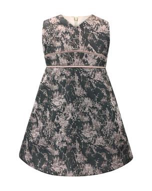 Helena Floral Jacquard V-Neck Dress, Size 7-14 6a898f1d632