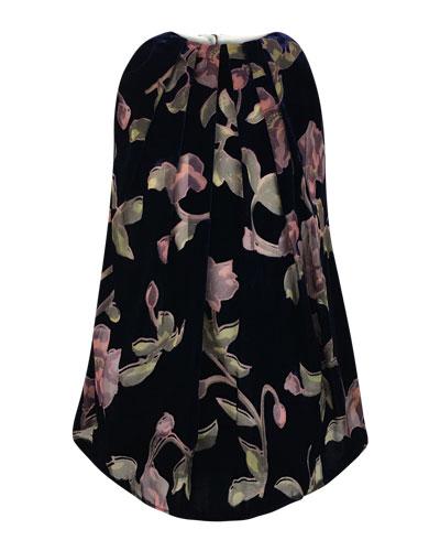 Velvet Burnout Floral Dress, Size 7-14