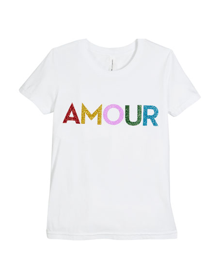 Milly Minis Rainbow Glitter Amour Tee, Size S-L