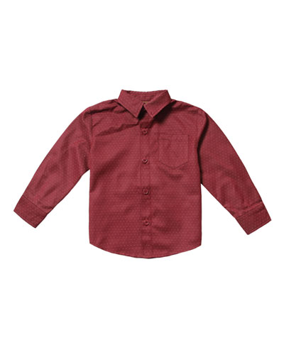 Pin-Dot Dress Shirt, Size 2-8