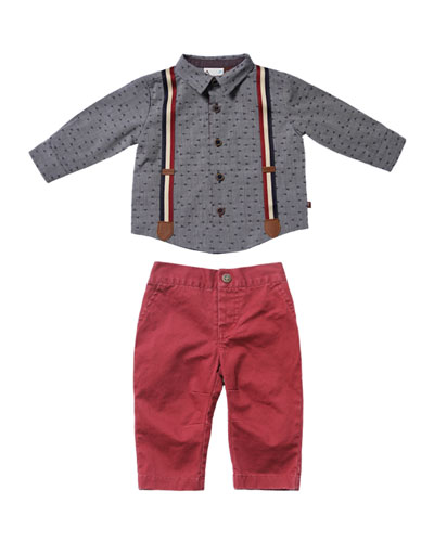 Confetti Dress Shirt w/ Twill Pants, Size 6-24 Months