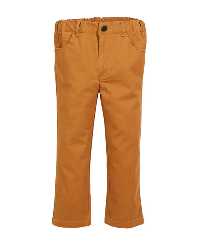 Brushed Twill Straight-leg Pants, Size 2-8
