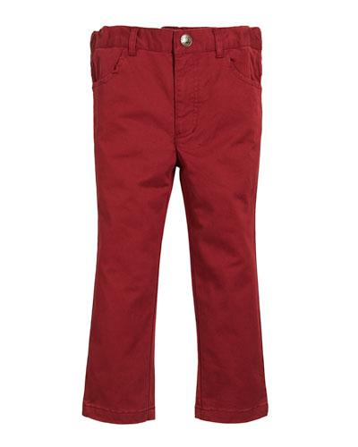 Brushed Twill Pants, Size 2-8