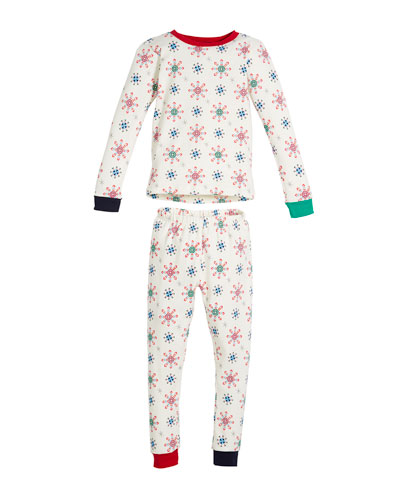 Holiday Snowflake Pajama Set, Size 10-14