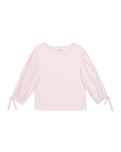 Shannon Bubble-Sleeve Top, Size 7-14
