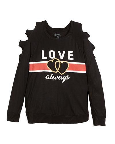 Love Always Open-Shoulder Top, Size S-XL