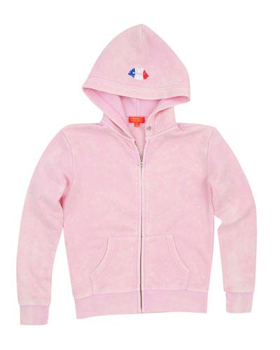 Paris Snow Wash Zip Hoodie, Size 4-6