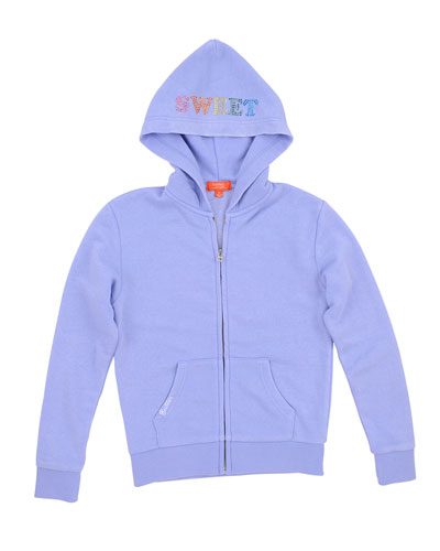 Gumball Burnout Fleece Zip Hoodie, Size 4-6