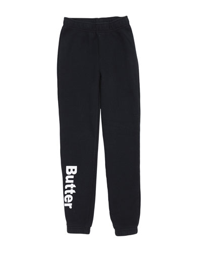 Solid Fleece Varsity Logo Sweatpants, Size 4-6