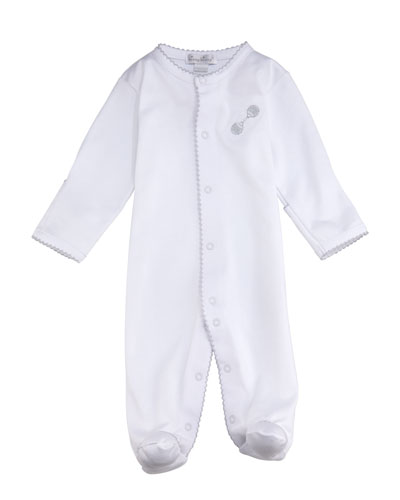Rattle Footie Playsuit, Size Newborn-6M