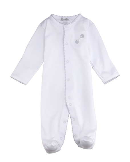 KISSY KISSY Rattle Footie Playsuit, Size Newborn-6M in White