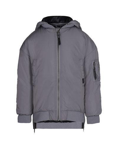 Hollyn Biker-Style Hooded Jacket, Size 4-12