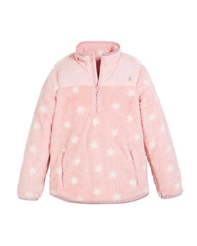 Elena Stars Fleece Half-Zip Jacket, Size 3-12