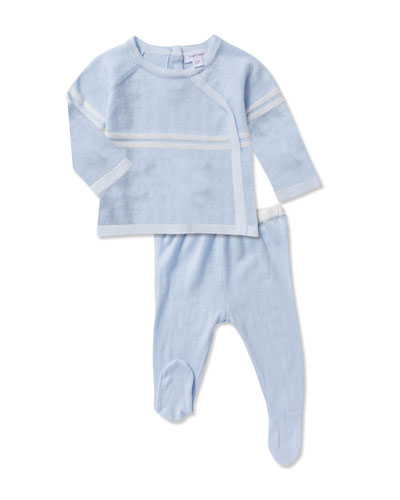 Take Me Home Knit Top w/ Footed Leggings, Size Newborn-3 Months