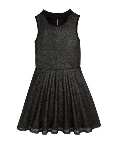 Francesca Sleeveless Mesh Dress w/ Cutout Detail, Size 8-16