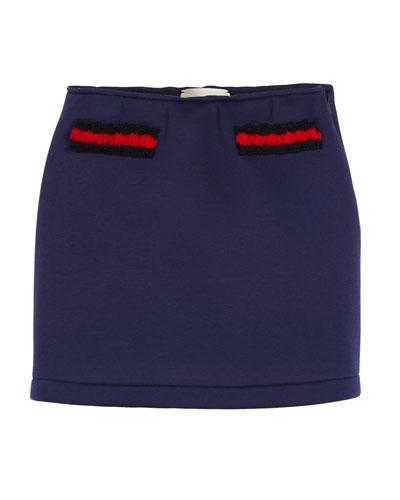 Neoprene Web-Trim Skirt, Size 4-12