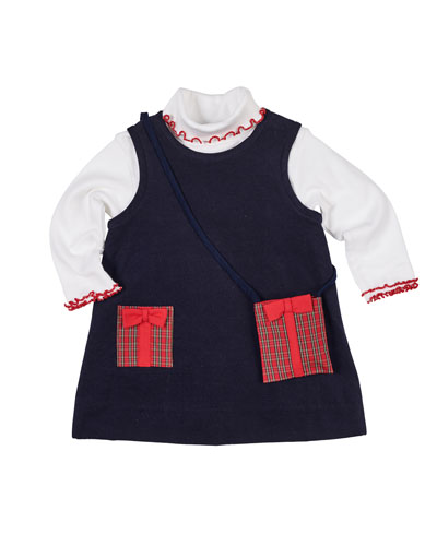 f81116d999ce Pocket Full of Presents Corduroy Dress w  Turtleneck Top   Crossbody Bag  Size 2-