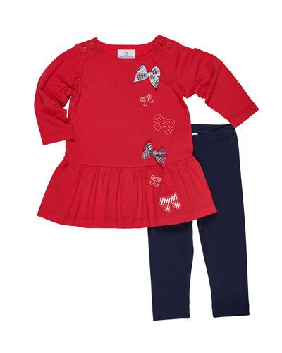d2e295ea40c0 Knit Bow Dress w  Leggings Size 2-6X