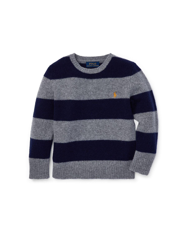 841fe3d2 Ralph Lauren Childrenswear Wool-Cashmere Striped Sweater, Size 2-4 ...