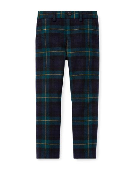 ralph lauren childrenswear newport tartan plaid wool pants size 2 4