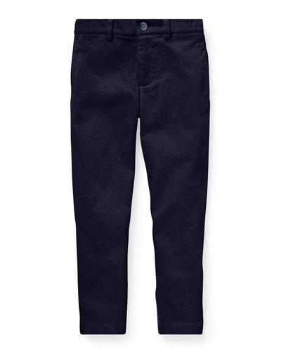Corduroy Straight-Leg Pants, Size 5-7