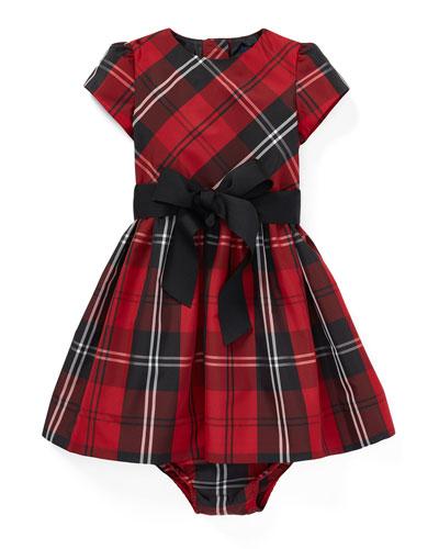 Taffeta Plaid Dress w/ Bloomers, Size 6-24 Months