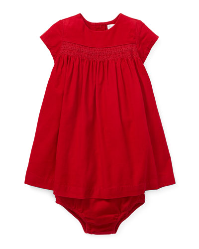 Corduroy Smocked Dress w/ Bloomers, Size 6-24 Months