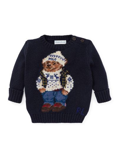 Cotton Bear Sweater, Size 6-24 Months
