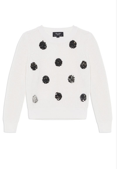 Flippy Sequin Spot Sweater, Size 8-16